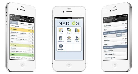 Madlog er en dansk app til logføring af kalorieindtag og aktivitet/motion